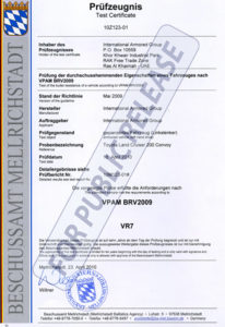 Certificate - International Armored Group