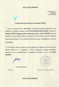 certificate NATO Unclassified