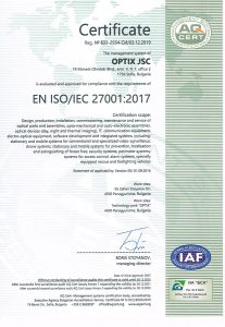 Certificate ISO 27001