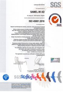 Certificate ISO-45001